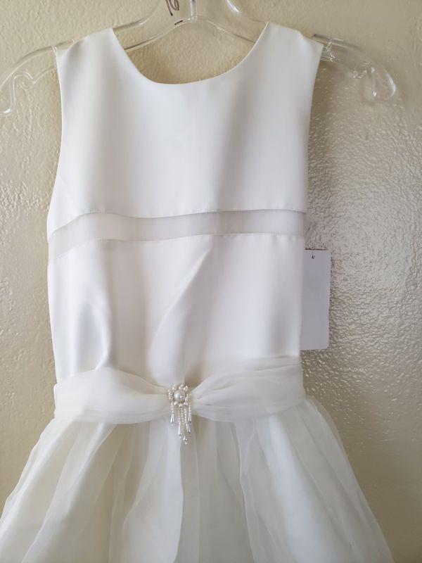Girls Size 16 White Dress