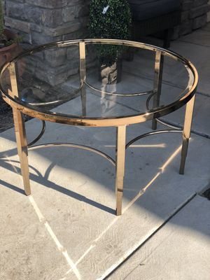 Brand new gold color metal coffee table. Retails for over $300 for Sale in Fowler, CA