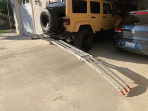 Motorcycle carrier with folding aluminum ramp for Sale in Hemet, CA