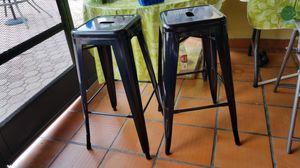 2 METAL BLACK BAR HEIGHT BAR STOOL $25 EACH for Sale in Miramar, FL