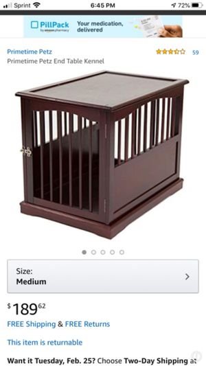 Medium Table Kennel - NEW IN BOX - L30 H24 W21 for Sale in Lewisville, TX