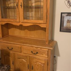 BROWN HUTCH WITH CHANGEABLE LIGHT. for Sale in Boston,  MA