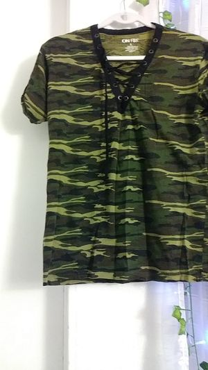 Camo laceup t shirt for Sale in Monrovia, CA