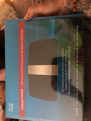 Cisco Linksys E4200 Maximum Performance Wireless-N Router for Sale in Port St. Lucie, FL