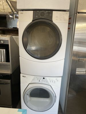 White Whirlpool Washer And Kenmore Dryer For Only $650 for Sale in Fullerton, CA