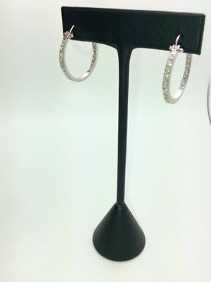 14k Diamond Hoop Earrings for Sale in Upland, CA