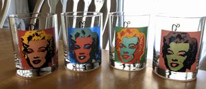 Set of 4 Andy Warhol Marilyn Monroe Glasses for Sale in Kissimmee, FL