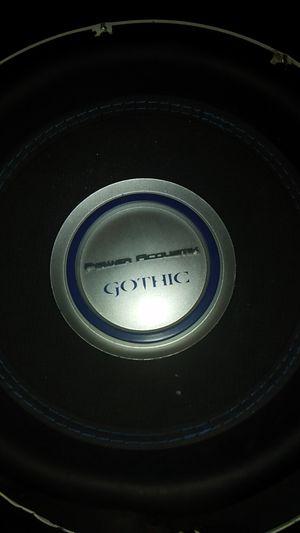 Power accustik gothic 12' sub 2500 watts peak power $75 for Sale in Phoenix, AZ
