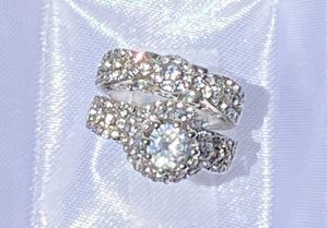 Princess wedding rings. Silver. Size 6,7,8,9,10. Never used. for Sale in Stockton, CA