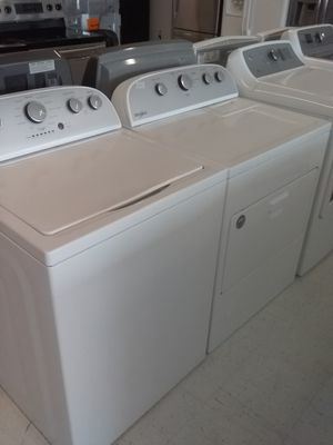 Whirlpool washer and gas dryer new scratch and dents good condition 4 months q for Sale in Mount Rainier, MD