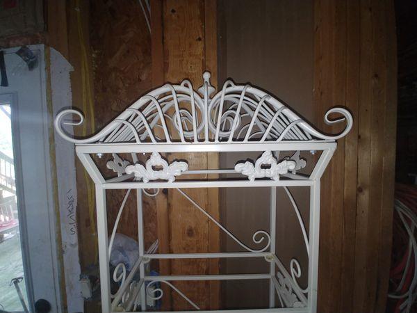 Beautiful metal shelves display
