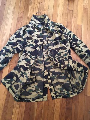 BAPE 1st camo Rain trench coat for Sale in Chicago, IL