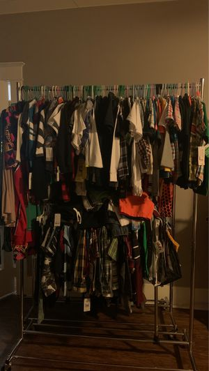 whole rack of brand new boys clothes size 3-6 with tags for Sale in Long Beach, CA