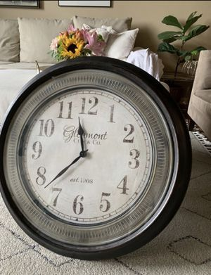 Large wall clock home decor for Sale in Denver, CO