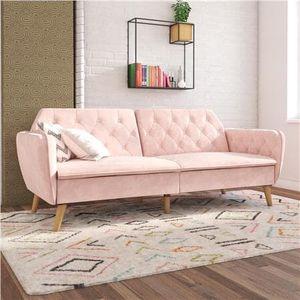 Novagratz Tallulah Memory Foam Futon, pink for Sale in Houston, TX