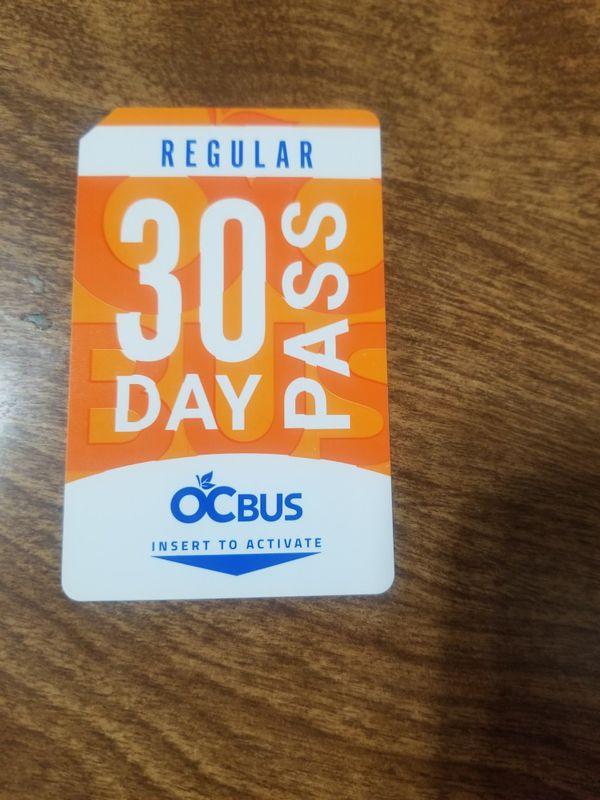 OC 30 Day Bus Pass - Regular!!