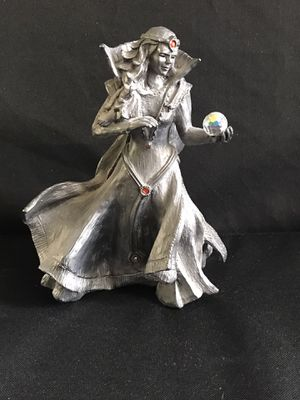 "1991 Michael Ricker SHAWN SORCERESS 645/1500 Pewter Figurine 8.75"" for Sale in Henderson, NV"