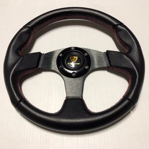 K2 Universal Faux Leather 6 Bolt Steering Wheel - Honda Acura Toyota Lexus Nissan Infiniti Scion Subaru Chevy Ford GMC Jeep BMW Dodge for Sale in Camp Pendleton North, CA