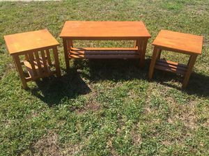 Solid Wood Coffee Table with 2 Side Tables $85 FIRM for Sale in Orlando, FL