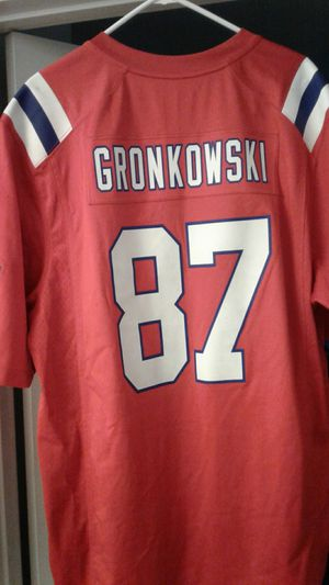Selling my throwback patriots jersey gronkoski good shape for Sale in Los Angeles, CA