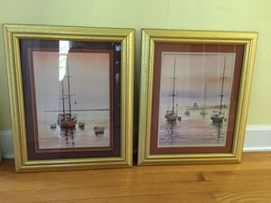 Sailboat Paintings $20/ pair for Sale in Raleigh, NC