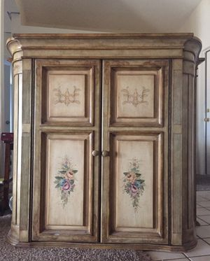Vintage rustic hand-painted armoire for Sale in Yucaipa, CA