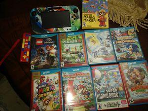 Nintendo Wii u 9 games console handheld screen and 1 Lego controller for Sale in Marana, AZ