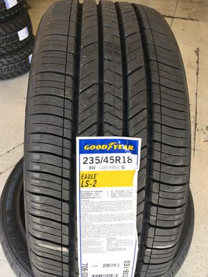 235/45/18 New set of Goodyear tires installed for Sale in Rancho Cucamonga, CA