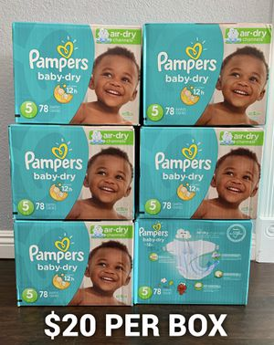 Pampers baby dry size 5 for Sale in Long Beach, CA