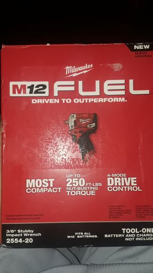M12 fuel 3/8 stubby impact wrench for Sale in Austin, TX