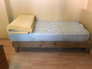Beautiful wooden bed frame, single for Sale in Anchorage, AK