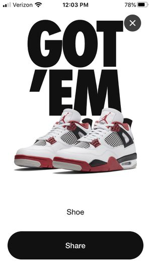Jordan 4 Retro Fire Red (2020) Sz 10.5 for Sale in Washington, DC