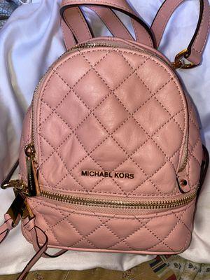 Michael Kors pink leather mini backpack for Sale in Glendale, AZ