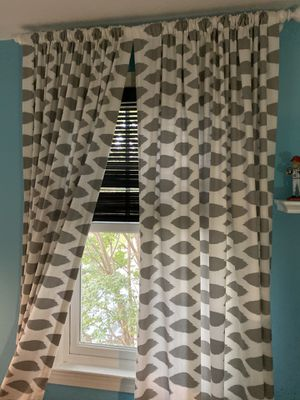 "Custom made ikat curtains (4 panels) 95"" for Sale in Falls Church, VA"