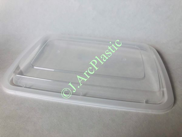 50-Pack Meal Prep Plastic Food Containers 32 OZ. Black Rectangular Reusable Storage Lunch Boxes
