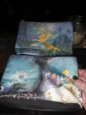 2 Disney Cinderella and tinkerbell bags for Sale in Lombard, IL