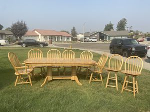 Dining Table six chairs + 2 Bar stools for Sale in Lemoore, CA