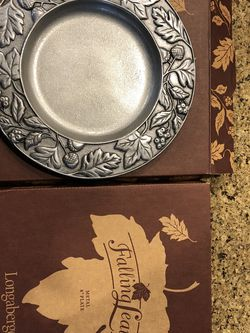 Longaberger Pewter Plates (8in) for Sale in Issaquah,  WA