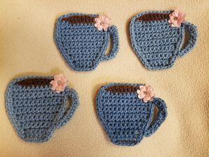 Crocheted Coffee Mug Coasters for Sale in Los Angeles, CA