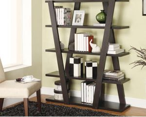 New!! Bookcase, bookshelves, organizer, 5 shelf geometric bookcase, storage unit, living room furniture, entrance furniture, shelving display , capu for Sale in Phoenix, AZ