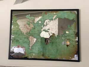 Wall Decor - Mirrored Green World Map for Sale in Costa Mesa, CA