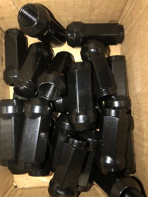 20pc JEEP GLADIATOR 14x1.5 BLACK WHEEL LUG NUT BULGE ACORN CONICAL SEAT for Sale in La Grange Park, IL