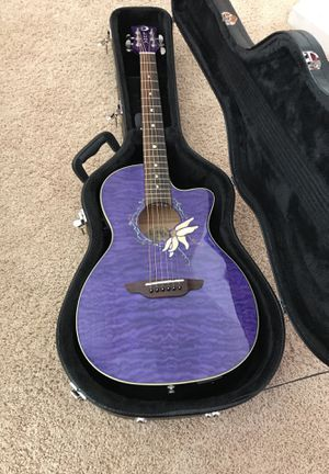 Luna flora passionflower acoustic guitar brand new for Sale in Sanger, CA