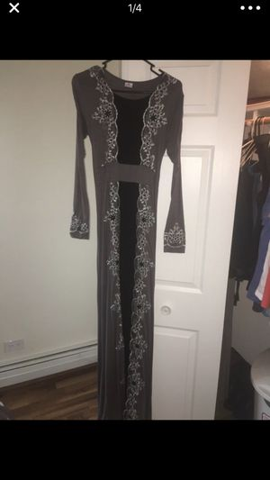 Brand new Black silver & gray Abaya dress for Sale for sale  Hickory Hills, IL