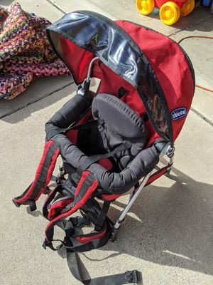 Chicco hiking Backpack Carrier baby toddler red hike for Sale in Phoenix, AZ