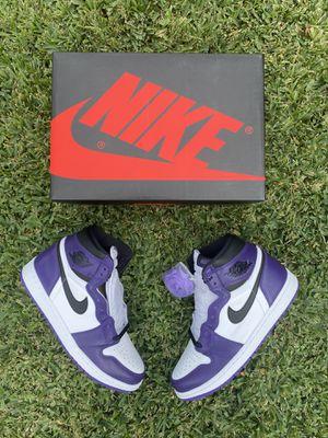 Jordan 1 Court Purple Size 9 for Sale in Covina, CA