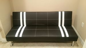 Brand New Black Faux Leather Futon Sofa Bed for Sale in Chevy Chase, MD