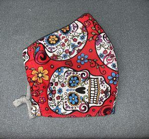 SUGAR SKULL COCO DÍA DE LOS MUERTOS FABRIC CLOTH MASK FACE COVER for Sale in Miramar, FL