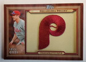 Chase Utley 2011 Topps Series 1 Throwback Patch Philadelphia Phillies MLB for Sale in La Mesa, CA