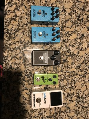 Electric Guitar Pedals (Tuner, Overdrive, Chorus) for Sale in Houston, TX